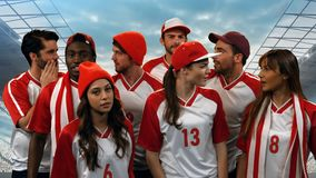 Group of athletes stock footage