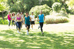 Group of athletes running Stock Image