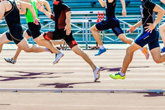 Group of athletes sprinters Royalty Free Stock Photos
