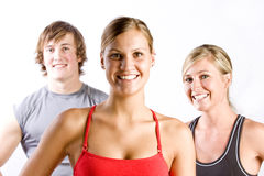 Group of athletic friends Stock Photos