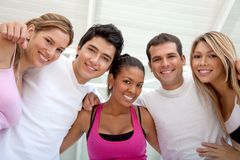 Group of athletic people Stock Photography