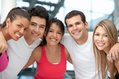 Group of athletic people Stock Images