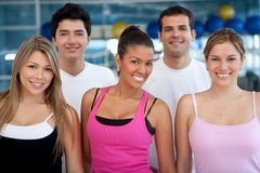 Group of athletic people Stock Image