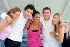 Group of athletic people Royalty Free Stock Image