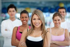 Group of athletic people Royalty Free Stock Photography
