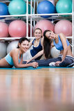 Group of athletic women have a rest Royalty Free Stock Photography