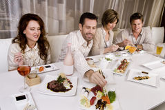 Group of attractive young couples stock photography
