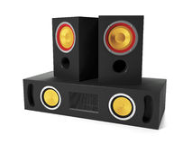 Group Audio Speakers Royalty Free Stock Images