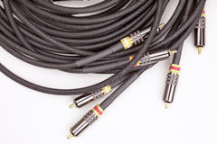 Group audio video cables Stock Images