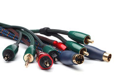 Group  of audio/video cables Stock Images