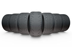 Group of automotive tires Stock Image