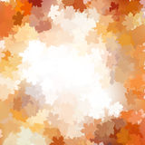 Group autumn orange leaves. EPS 10 Royalty Free Stock Image