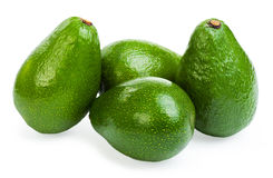 Group avocado. Isolated on a white background Royalty Free Stock Photography
