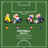 Group B Of 2014 Football (Soccer) Tournament. Group B Of 2014 Football (Soccer) Tournament Vector Illustration Stock Photos