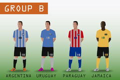 Group B for American Soccer Royalty Free Stock Photos
