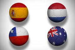 Group b footballs for world cup Stock Image