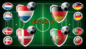 Group B - Netherlands, Denmark, Germany, Portugal Royalty Free Stock Image