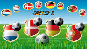 Group B - Netherlands, Denmark, Germany, Portugal Stock Photo