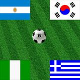 Group B of the world cup Royalty Free Stock Image