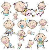 A group of babies. Illustration of a group of babies on a white background stock illustration