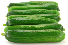 Group Baby Cucumbers. Stock Images