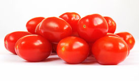 Group of baby Pomodorino plum tomatoes Royalty Free Stock Image