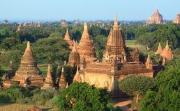 A group of Bagan pagodas in Myanmar Royalty Free Stock Image