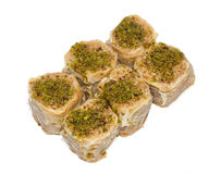 Group of baklava Stock Images