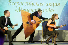 Group Balalaika from Syktyvkar performing during the award Philanthropist of the Year Stock Photo