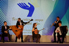 Group Balalaika from Syktyvkar performing during the award Philanthropist of the Year Royalty Free Stock Photo