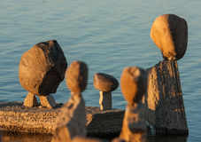 Group of Balanced Stones Royalty Free Stock Photo