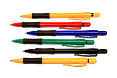 The group of ball pont pens Royalty Free Stock Images