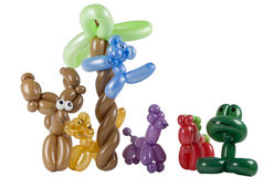 Group of balloon animals Royalty Free Stock Photo