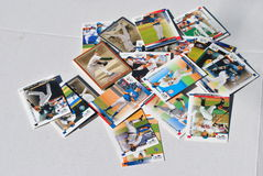 Group  of  baseball  cards. A   stack  of  recent  baseball  memobilla  baseball  caerd Stock Photography