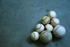 A Group of Baseballs and Softballs Stock Photo