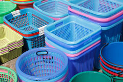 Group basket colorful background Stock Images