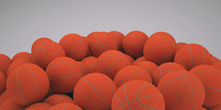 Group basketballs. Groups of classical basketballs. 3d render of studio Stock Photography