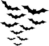 Group of Bats. A Group of flying Bats stock illustration
