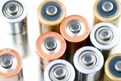 Group of batteries Stock Photo