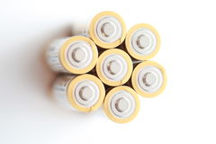 Group of batteries Royalty Free Stock Image