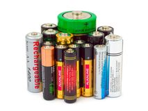 Group of batteries Royalty Free Stock Photo