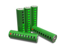Group of batteries with indicators Royalty Free Stock Images