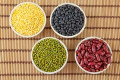 Group of beans Stock Images