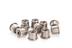 Group of bearings. On white background royalty free stock images