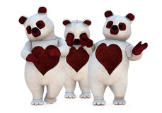 Group of Bears Royalty Free Stock Photo