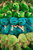 Group of bears dolls Royalty Free Stock Photos