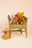 Group bears sitting in chair Royalty Free Stock Photo