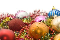 Group of Beautiful Christmas decoration balls Stock Photo