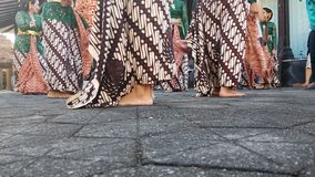 A group of beautiful dancer girls from Yogyakarta with beautiful Javanese traditional dance costumes. stock photos