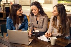 Girls studying Stock Photo